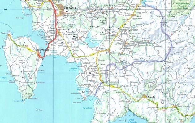 Carte Italie Et Sardaigne.Cap Aventure Cartographie Italie Sardaigne